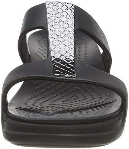 Sandales Bout Ouvert Femme Crocs Monterey Metallic Wedge