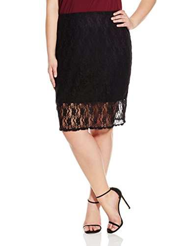 Star Vixen Women's Plus-Size Lace Pencil Skirt with Short Lining, Black, 2X