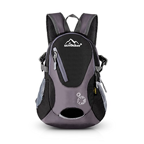 Cycling Hiking Backpack Sunhiker Water Resistant Travel Backpack Lightweight SMALL Daypack M0714 (Black) by Sunhiker