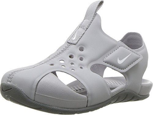 Nike Toddler Boy's Sunray Protect 2 Sandal, Wolf Grey/White-Cool Grey, 4C