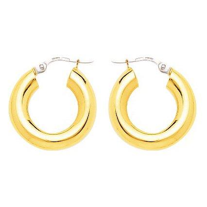 So Chic Bijoux © Boucles d'oreilles Femme Créoles Diamètre 10 mm Fil Rond 5 mm Or Jaune 750/000 (18 carats)