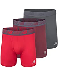 """Men's 6"""" Boxer Brief Fly Front with Pouch, 3-Pack"""