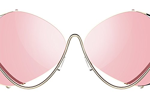Lunettes de Soleil Polarisées Wayfarer Women's Glasses Metal Flat lenses Vintage Fashion Mirrored Oversized Sunglasses for the owner MOBIUS Sunglasses-silver frame transparent lenses aFo9Xd