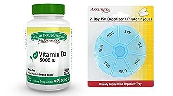 Vitamina D3 5000 IU, no-GMO, 360 mini softgels, soja libre,