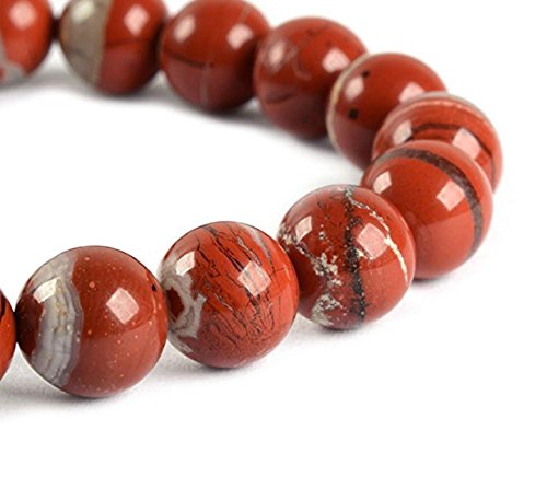 - Top Quality Natural Red River Jasper Gemstone 8mm Round Loose Gems Stone Beads 15.5