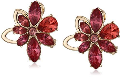 Anne Klein Women's Gold Coral EZ Comfort Clip Flower Button Earrings, Size 0