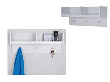 Nuevo Blanco 2 compartimento para colgar en la pared estante ...