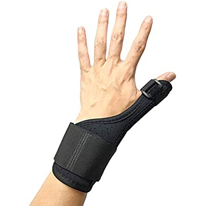 Breeezie Sports Wristband Tenosynovitis Sprain Fracture Fixed Thumb Splint Wrap Finger Stabiliser Wrist Support Breathable Hand Estimated Price £6.88 -