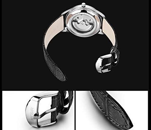 Orologi Uomo,Orologio Impermeabile Di Moda Cava Cintura Nera Guscio Bianco E Quadrante Bianco
