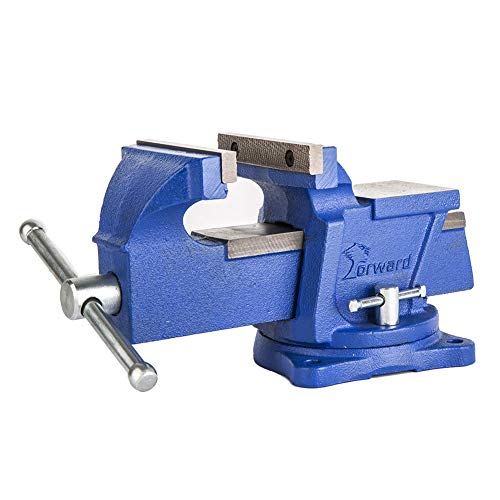 "Forward 0806 6-Inch Bench Vise Swivel Base Light Duty with Anvil (6"")"