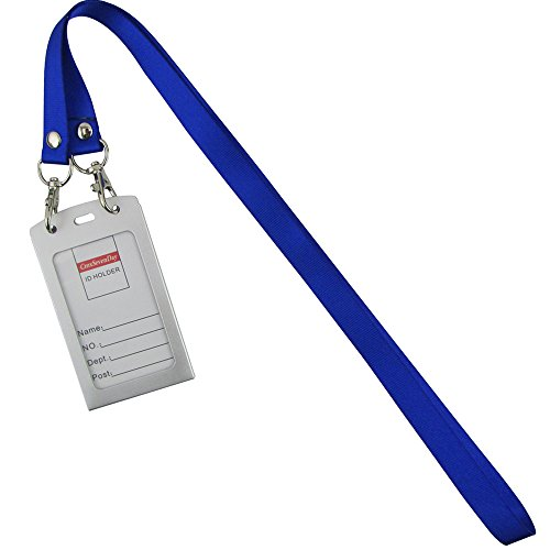 Aluminium Neck (Cmxsevenday B0135 Aluminium Alloy Id Credit Card Holder, with Nylon Neck Lanyard, Vertical Style -)