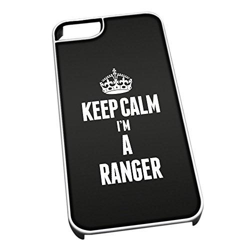 Bianco cover per iPhone 5/5S 2662nero Keep Calm I m A Ranger