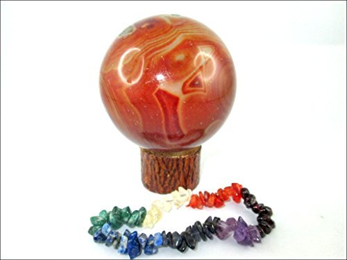 Jet Carnelian 45 - 50 mm Ball Sphere Gemstone A+ Hand Carved Crystal Altar Healing Devotional Focus Spiritual Chakra Cleansing Metaphysical Jet International Crystal Therapy Booklet (Pendulum Quartz Crystal Sphere)