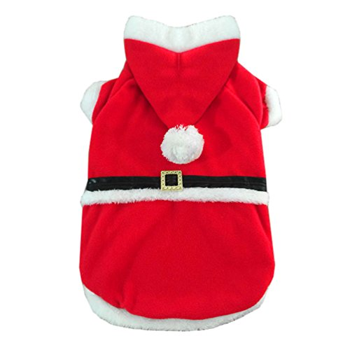 SMALLLEE_LUCKY_STORE Dog Christmas Santa Claus Suit Medium Large Dog Clothes, 2X-Large, Red (Santa Claus Suit Rental)