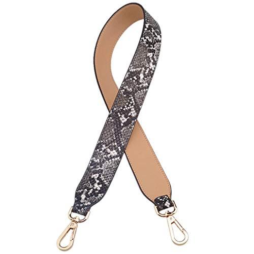 (Fashion Camouflage Strap PU Leather Multicolor Handle Shoulder Bags Serpentine Straps Belt Accessories)