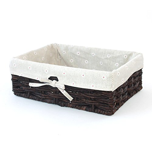 Natural Maize Storage Basket (Kingwillow, Storage Basket, Natural Corn leaves Storage Bins,Rectangular Basket,Arts and Crafts.)