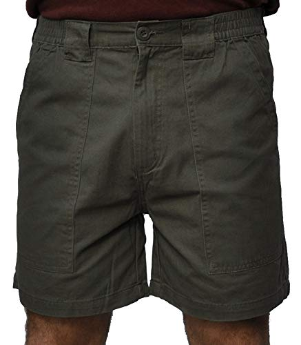(Trod Men's Deep Pockets Short Olive 32)
