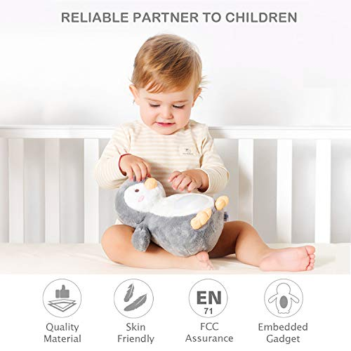 Baby Night Light Shusher White Noise Sound Machine 40 Lullabies, Soother Portable Soft Stuffed