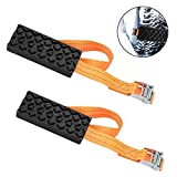 Yunhany Direct 2 PCS Car Tire Anti-Skid Block Auto Vehicle Snow/Mud Tire Traction Cable Chain Anti Slip Outdoor Car Self-Rescue Emergency Tool for Car Truck SUV Winter Driving W/Storage Pouch