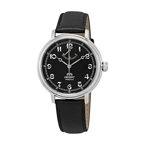 Orient Men's 'Monarch' Mechanical Hand Wind Stainless Steel and Leather Dress Watch, Color:Black (Model: FDD03002B0)