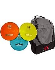 Disc Golf UK - Juego de 3 discos de golf con bolsa de golf DGUK