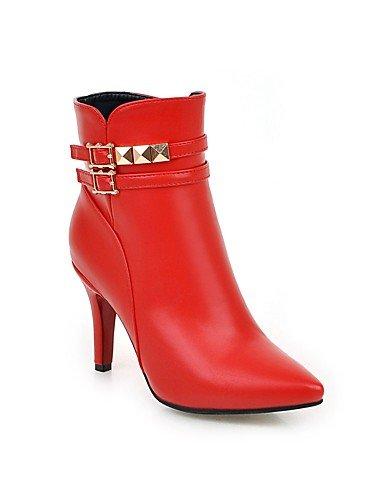 XZZ  Damen-Stiefel-Kleid-Kunstleder-Stöckelabsatz-Modische Stiefel-Schwarz   Rot     Weiß   Mandelfarben B01KPZTNAW Sport- & Outdoorschuhe Authentische Garantie 4b6f0e