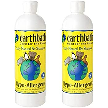 Earthbath Hypo-Allergenic Totally Natural Pet Shampoo, 2 Pack