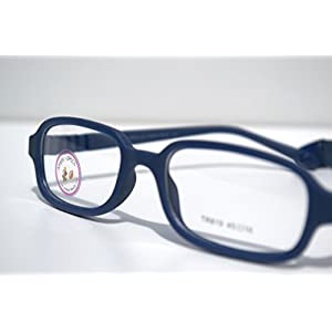 Amblyo-Specs Eye Glass Frames for Kids, Flexible, Prescription Glasses 45-16-120 (Navy Blue)