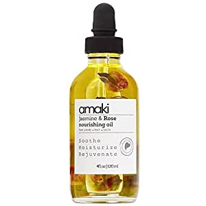 Amaki Organic Essential Oils for Face, Body, Hair & Nails | Best Facial Moisturizer for Healthier Skin! Reduce Dryness, Irritation and Redness while Soothe and Soften Skin.