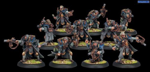 (Trencher Commando Unit Cygnar - Forces of Warmachine by Privateer Press by Privateer Press Minature Game)