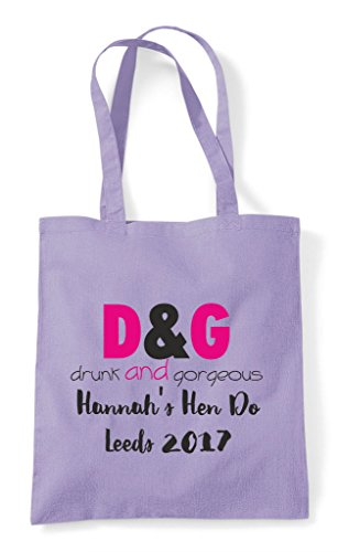 And Personalised Do Customised Drunk Shopper Gorgeous Hen Tote Lavender Bag Party Parody xwq14tUY