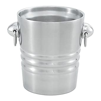Vollrath (46616) Double Wall Champagne / Wine Bucket (2-Quart, Satin Finish Stainless Steel)
