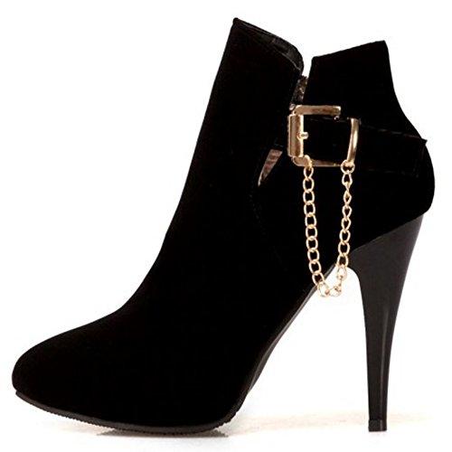 Coolcept Stiletto Western Dress Donna Fibbia Con Zipper Stivaletti Nera P7x7w
