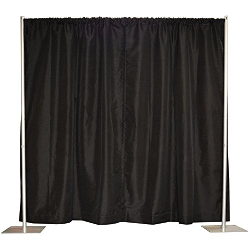 Pipe and Drape, Backdrop Kit in Premier Fabric (8' x 10' Black) by Crowd Control Center