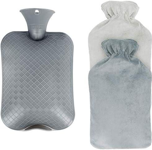 [Gesponsert]Wärmflasche mit Bezug,2L Wärmeflasche, Abnehmbare und Waschbare Super Soft Luxury Plüschbezug Cashmereweichen...