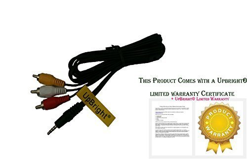 UpBright AV A/V 3.5mm mini plug to 3 RCA Audio Video Cable Cord Lead For Samsung MiniDV DVD Camcorder FS10 FS11 FS20 FS21 FS22 FS31 FS40, FS100 FS200 FS300 FS400 SC-DC173/u MP-520/s MP4 YH-999/GS
