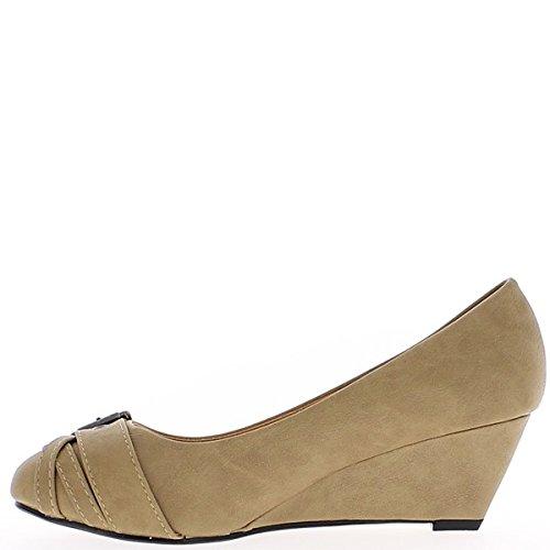 Chaussures À Talon Compensé Pour Femme Noir 7.5 Cm
