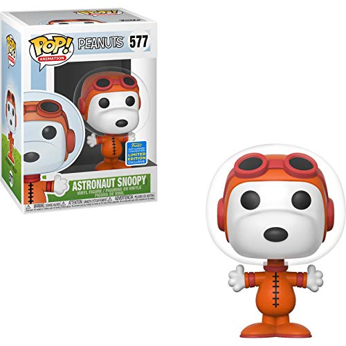 Funko Astronaut Snoopy (2019 Summer Con Exc) Pop Animation Vinyl Figure & 1 Compatible Graphic Protector Bundle (40047 - B) (Best Summer Anime 2019)