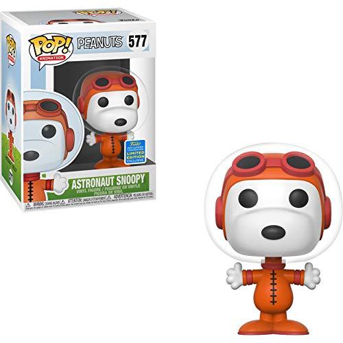 Funko Astronaut Snoopy (2019 Summer Con Exc) Pop Animation Vinyl Figure & 1 Compatible Graphic Protector Bundle (40047 - B) (Best Summer Anime 2019)