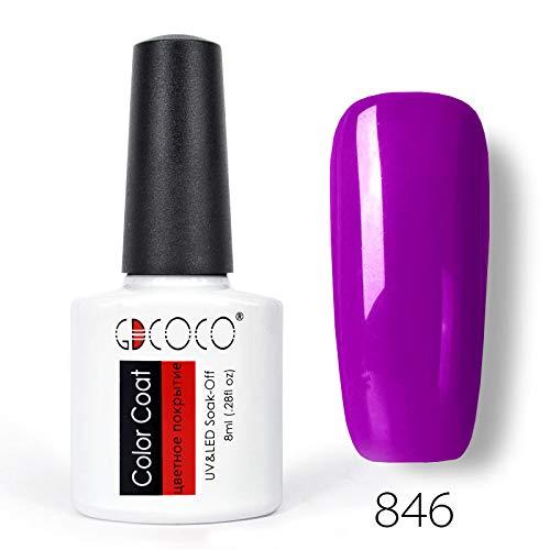 - Nail Gel Polish Colors Semi Permanent Nail Polish Supply Fast Dry 8Ml Gel Varnish Coat Color Gel Polish 846