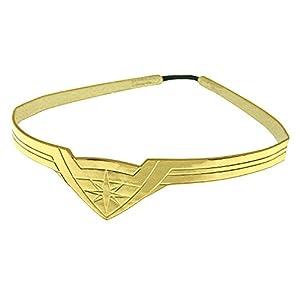 DC Comics Wonder Woman Gold Tiara Movie Superhero Costume Cosplay Stretch Band