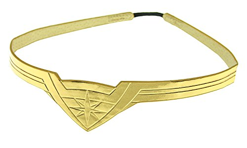 DC Comics Wonder Woman Gold Tiara Movie Superhero Costume Cosplay Stretch Band]()