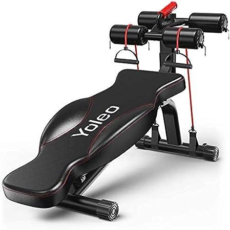 Max YOLEO Panca Addominali Pieghevole Regolabile Nero Panca da Allenamento per Sit Up da Casa capacit/à 200 kg Facile Montaggio Panca Multifunzione