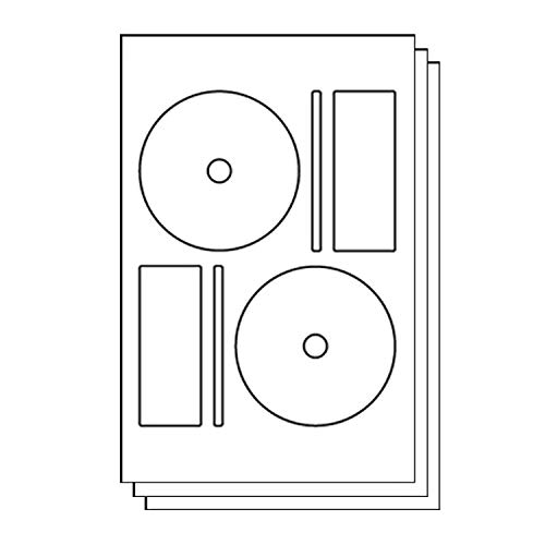 OfficeSmartLabels MEMOREX Full Face Small Center Style Compatible DISC CD DVD Labels with Spine and Case Labels for Laser & Inkjet Printers, 2 per sheet, White, Matte, 300 Labels, 150 Sheets ()