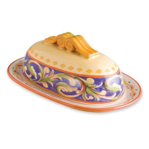 - Pfaltzgraff Villa della Luna Covered Butter Dish