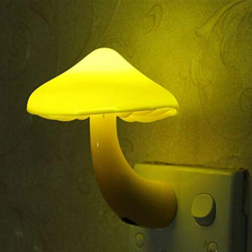 Bulfyss LED Night Light Mushroom Wall Socket Sensor Lights Lamp for Bedroom Home Decoration Hot Light-Sensor Controlled
