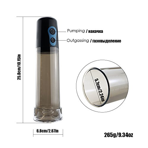 Pump Help Penis Extender Sex Toys for Men Electric Drive Penis Pump Enlarger Automatic Vacuum Suction Enlargement White