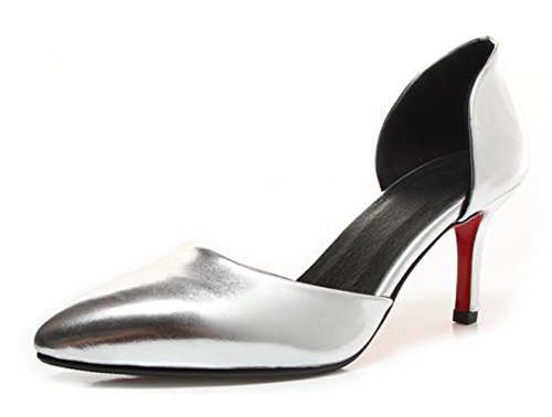 YCMDM BAMBINI ragazze di partito Sandali donna Tacchi alti sandali di sera del partito da sposa , silver , 39