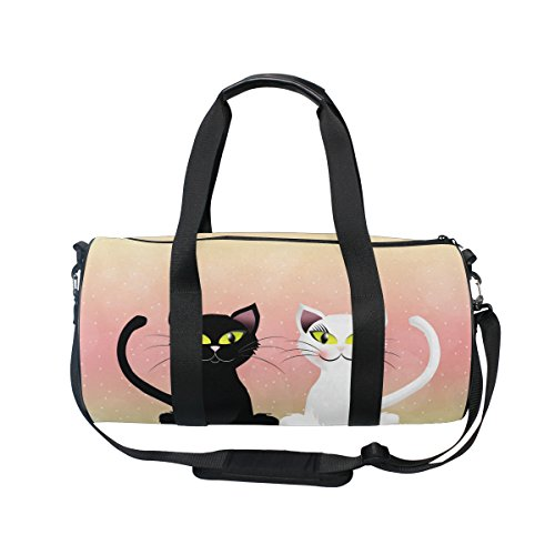 Evolutions Cats Couple Travel Duffel Bag Sports Gym Bag For Men & Women by Evolutions