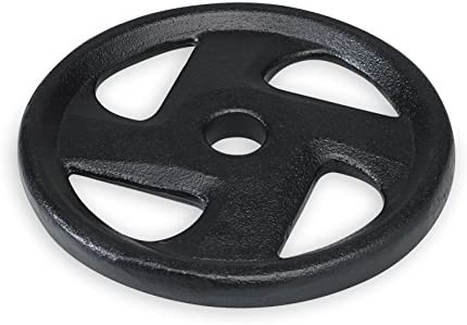 SPRI Weight Plate 1-Inch Cast Iron Standard 4 Grip Plate Available in 5, 10, 25, 35 Pounds – All Plates Sold Separately
